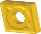Пластина твердосплавная сменна CNMG-190612 RS, L=19.3х6.35х1.2 мм