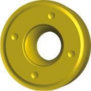 Пластина твердосплавная сменна RCMT, L=16х6.35х5.16 мм