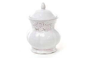 Банку для печива керамічна Троянди, колір білий 545-155