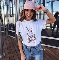 Женская легкая летняя футболка Спейс, вискоза,черная, белая,42-46 ff85c500b5c
