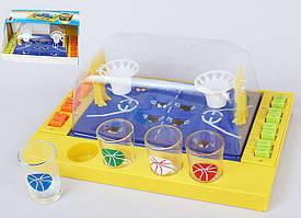 Игра настольная Баскетбол питейный (в наборе 4 стопки) 29.7см 7270211