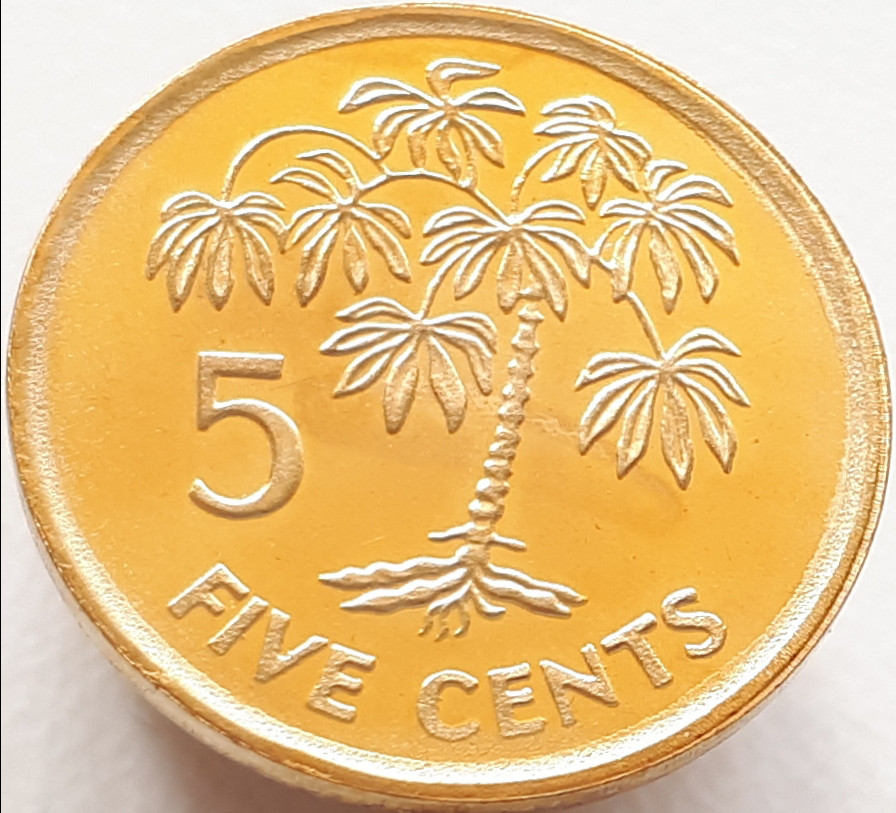 Сейшелы 5 центов 2007