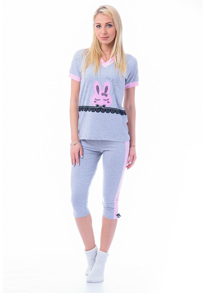 Женская летняя пижама футболка и бриджи Турция