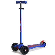 Самокат SCOOTER MICMAX Deluxe со светящимися колесами Синий