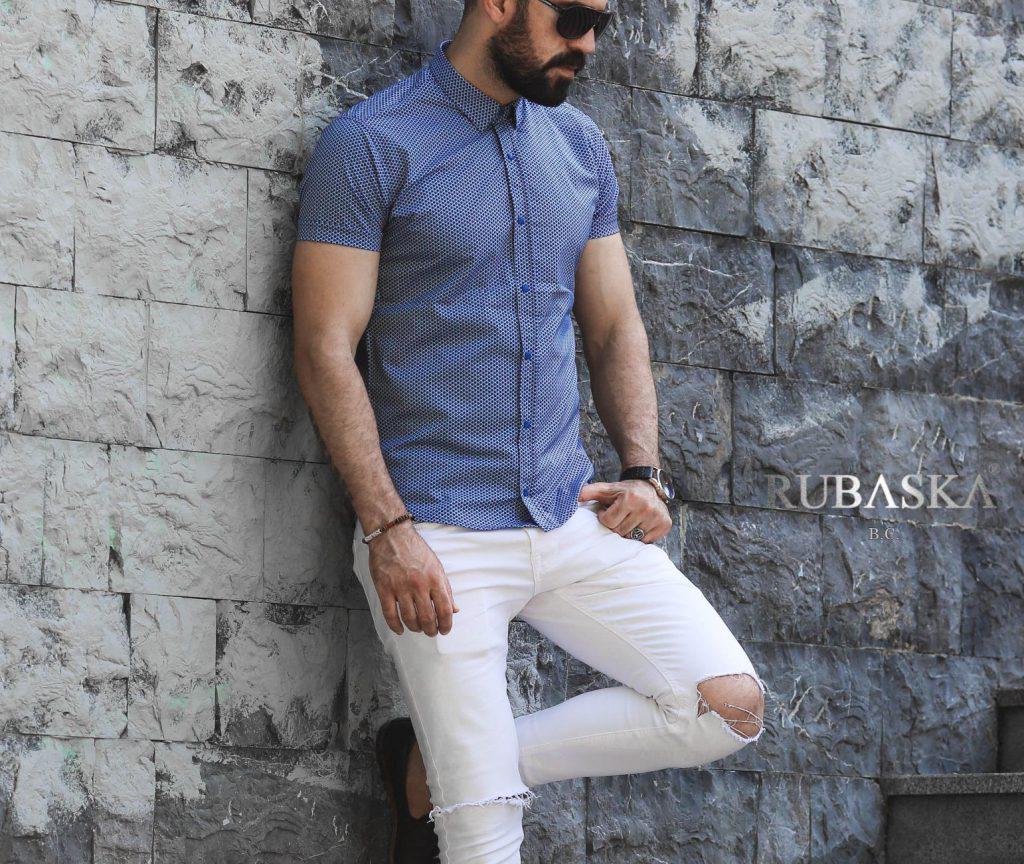 Мужская рубашка с коротким рукавом