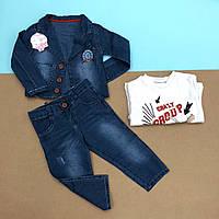 Детский джинсовый комплект тройка на мальчика