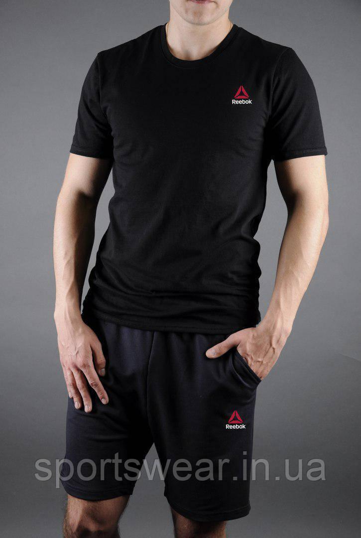 029e429d69f1 Мужской комплект футболка + шорты Reebok черного цвета