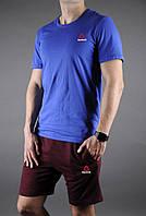 """Мужской комплект футболка + шорты Reebok синего и красного цвета """""""" В стиле Reebok """""""""""