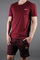 """Мужской комплект футболка + шорты Reebok красного цвета """""""" В стиле Reebok """""""""""