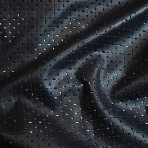 Искусственная стрейч кожа перфорированная темно-синяя