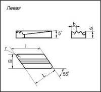 Пластина твердосплавная сменна KNUX-190615L36 (Левая), L=19x16x10 мм