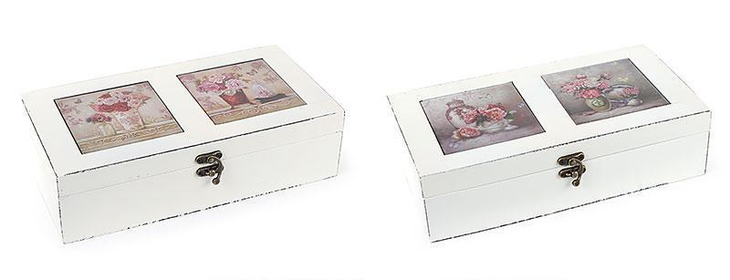 Шкатулка деревянная Букет с керамической крышкой 487-234