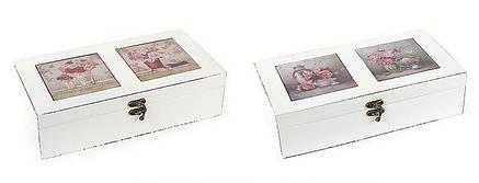 Шкатулка деревянная Букет с керамической крышкой 487-234, фото 2