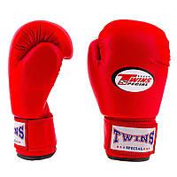 Перчатки боксерские Twins PVC 4 oz красные TW-4R (реплика)