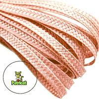 Тесьма плетеная соломка Персиковая 6 мм 10 м/уп, фото 1