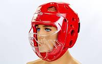 Шлем для тхэквондо с пластиковой маской BO-5490-R DAEDO (реплика)