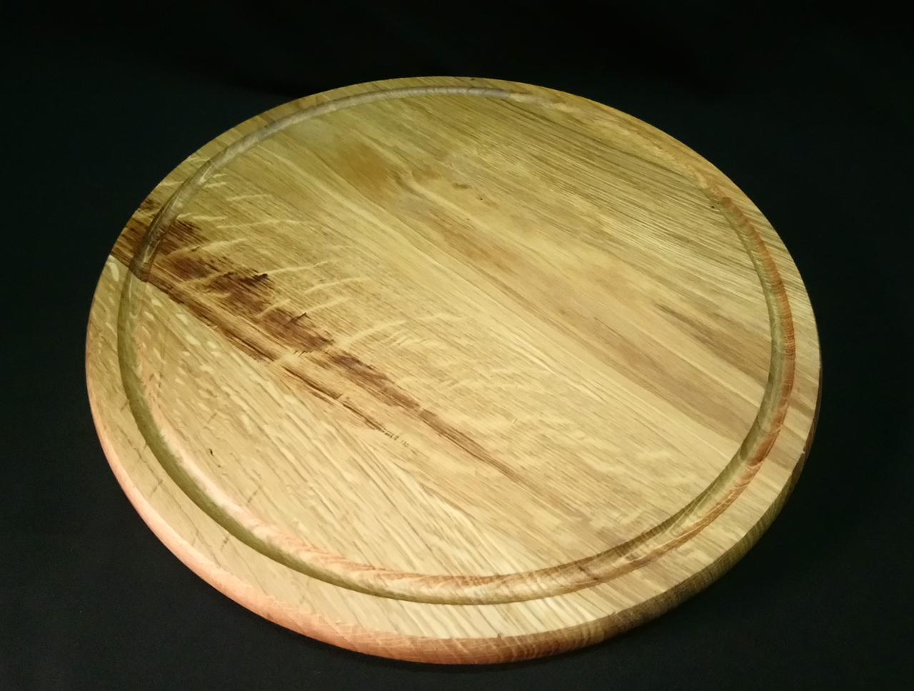 Дошка обробна (дуб) d 40 см