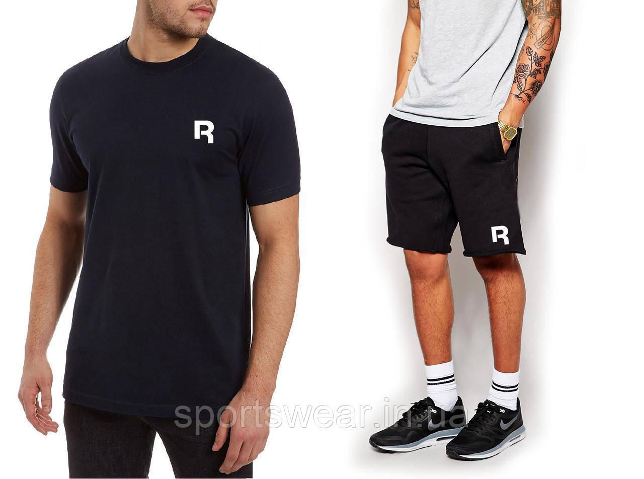 """Чоловічий комплект футболка + шорти Reebok чорного кольору """""""" В стилі Reebok """""""""""