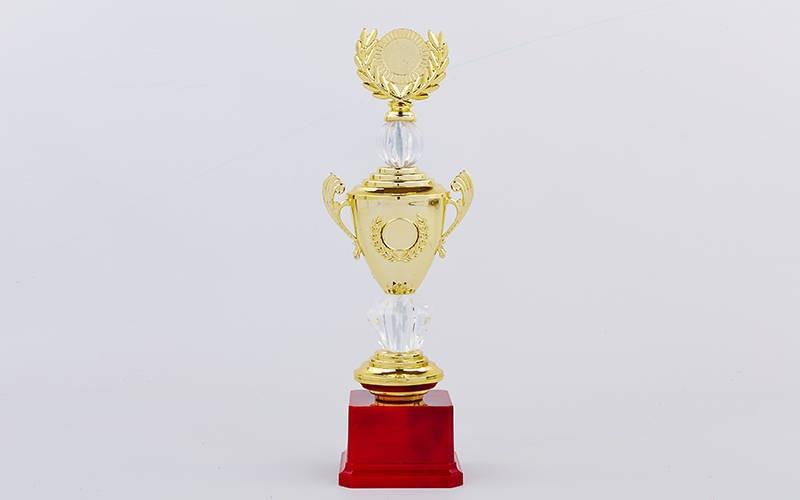 Кубок спортивный с ручками, крышкой и местом под жетон HIT C-K978B (h-32см, d чаши-8см, золото)