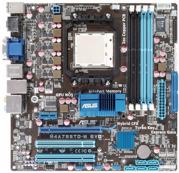Плата под AMD SAM3 ASUS M4A785TD-M EVO на DDR3 ! 140W READY Понимает ЛЮБЫЕ 2-6 ЯДРА ПРОЦЫ X2-X6 до PHENOM II X