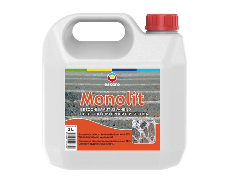 Грунтовка силикатная ESKARO MONOLIT для бетонных полов 3л