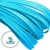 Тесьма плетеная соломка Голубая 6 мм 10 м/уп