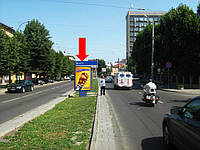 """Ситилайт г. Львов, Черновола В. пр-т, 11, разделитель, возле отеля """"Львов"""", из центра"""