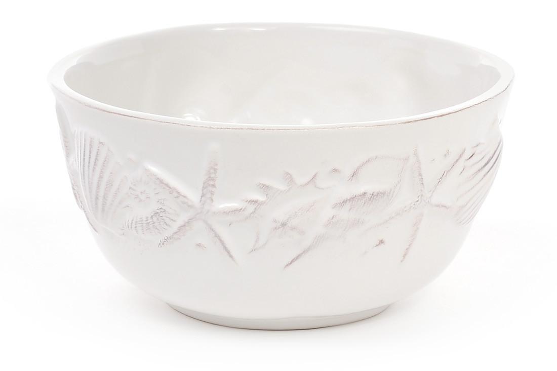 Пиала керамическая 550мл Морские мотивы, цвет - белый 545-378
