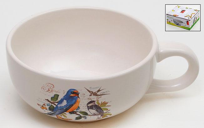 Пиала керамическая 18.2см Птицы DK2016-B