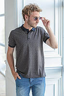 Модная футболка с узором для мужчин