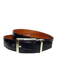 Ремень Tony Perotti Cinture 803 nero/moro кожаный черный/коричневый брючный