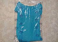 Легкое пляжное платье с воланом р.M-L цвет голубой