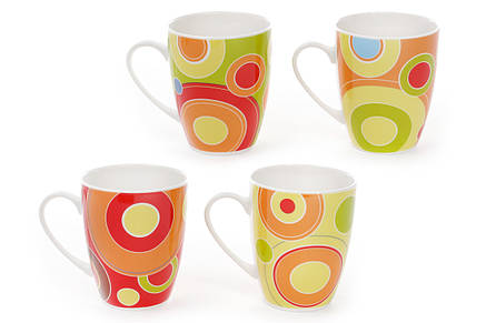 Кружка фарфоровая Цветные круги, 4 вида 577-507, фото 2
