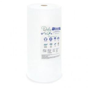 Полотенца в рулоне Doily 40х70 (100 шт.) из спанлейса белые сетка, плотность 40г/м2