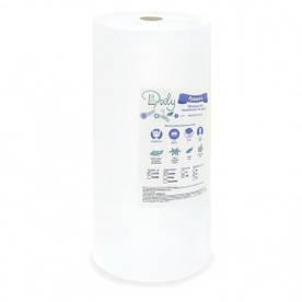 Полотенца в рулоне Doily 45х90 (100 шт.) из спанлейса белые сетка, плотность 40г/м2