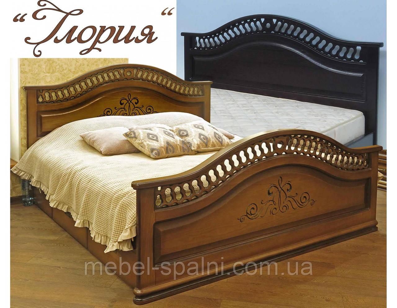 """Кровать деревянная двуспальная """"Глория"""" kr.gl6.1"""