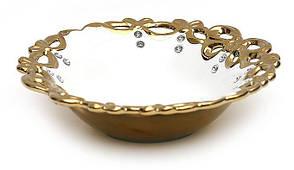Страва з кристалами 30.8 см Золотий Ажур 735-B01
