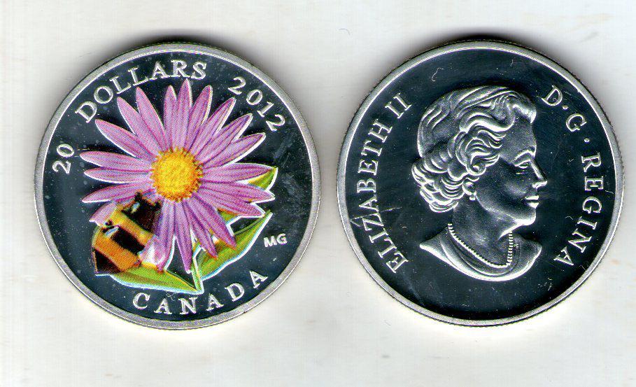Канада монета 20 долларов 2012 год