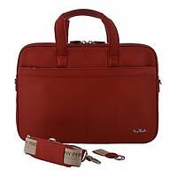 Сумка Tony Perotti Contatto 7044-40 rosso кожаная красная для ноутбука