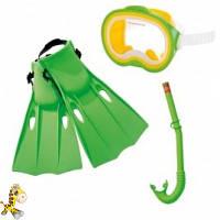 Intex 55955 набор маска  трубка  ласты от 8лет