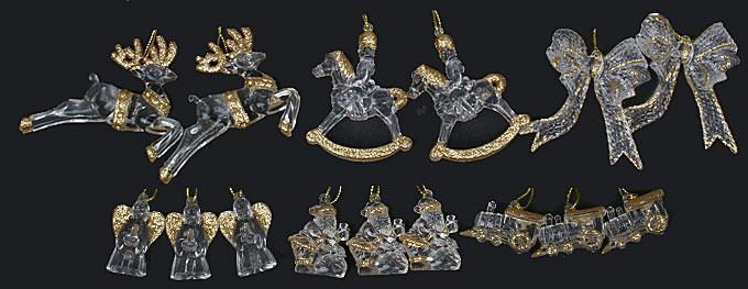 Набор новогодних украшений, 6 видов в дисплей коробке NY13-231
