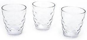 Набір скляних стаканів 350мл (3шт) прозорий 533-33