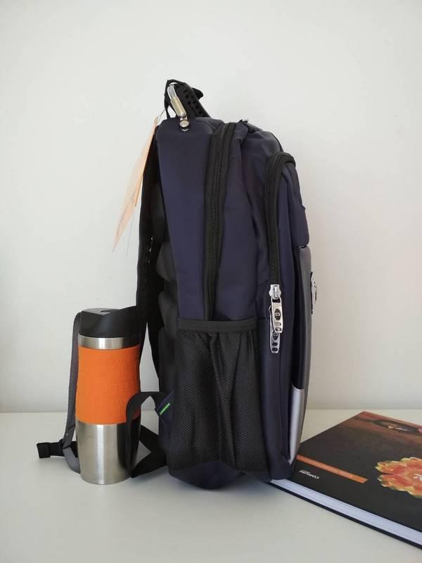 a2c514accd5a ... Синий подростковый школьный рюкзак для мальчика Gorangd 40*30*13 см, ...