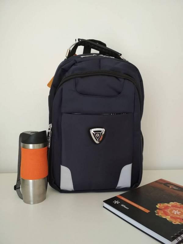 c8dcd7ba9e8b Синий подростковый школьный рюкзак для мальчика Gorangd 40*30*13 см -  Puziki.