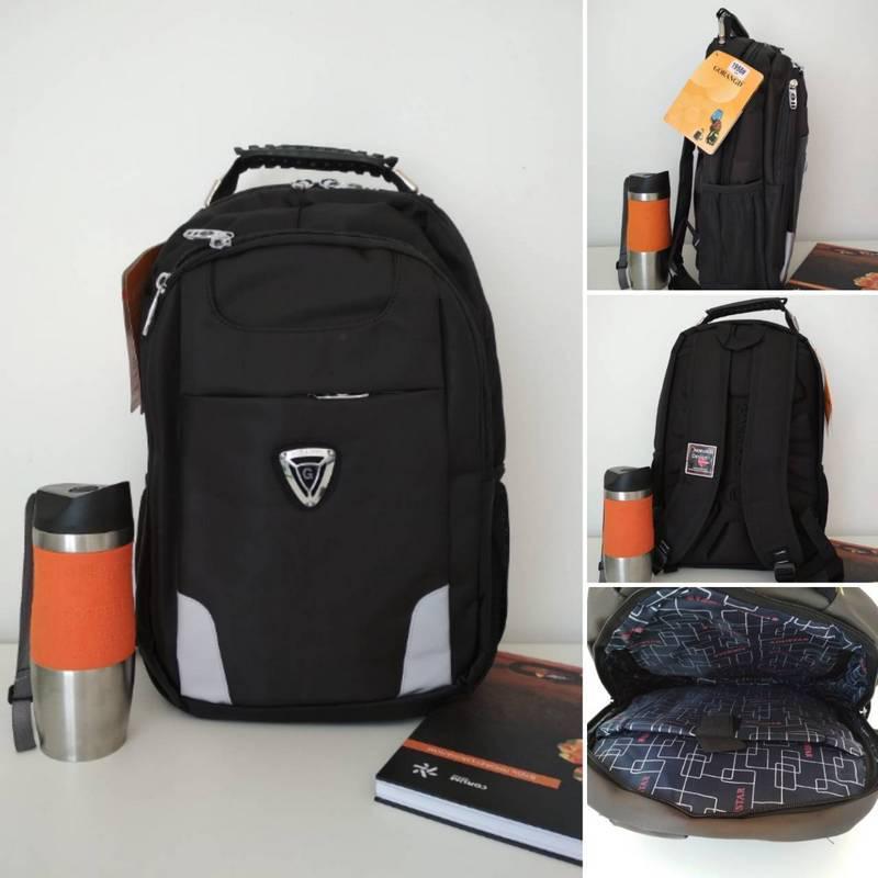 51e00f1d604c Подростковый школьный рюкзак для мальчика Gorangd черного цвета 40*30*13 см