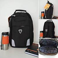 Школьный рюкзак для мальчика подростка Gorangd черного цвета 42*32*13 см, фото 1