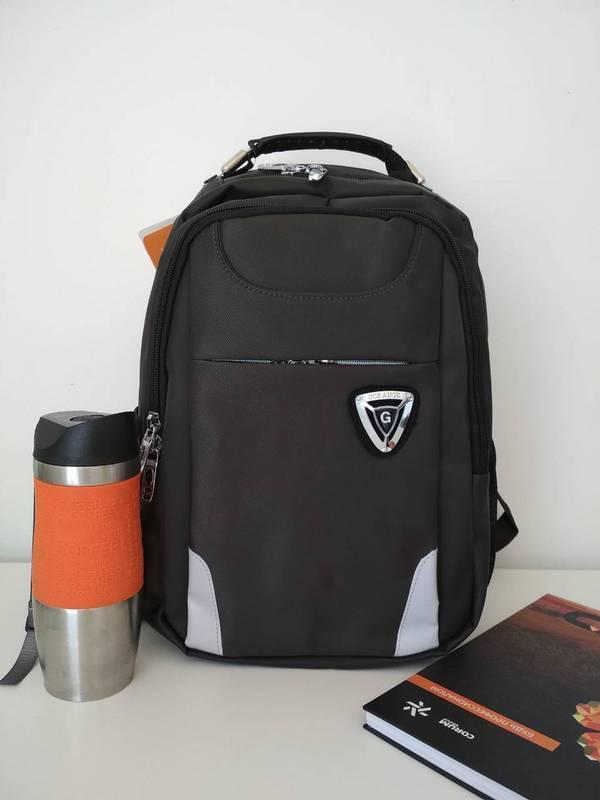 21fefb9f5648 Черный школьный рюкзак для мальчика подростка Gorangd 42*32*13 см за ...