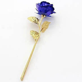 Золотая роза с синим бутоном (GR01B), фото 2