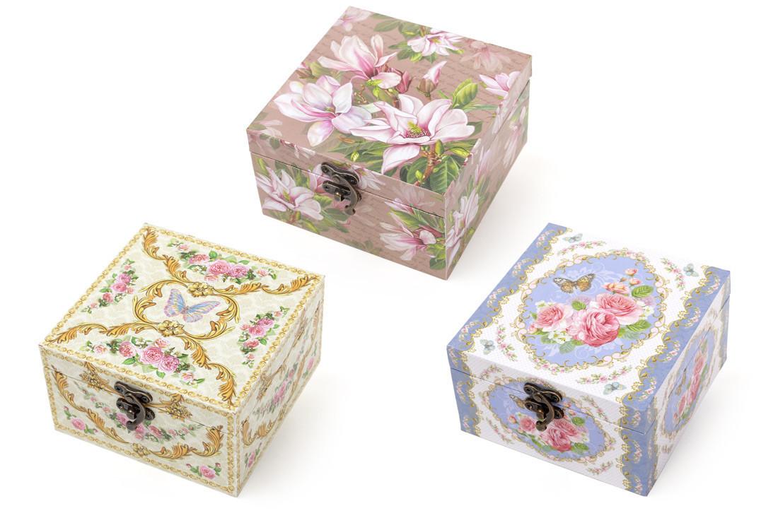 Шкатулка деревянная Цветы 487-294