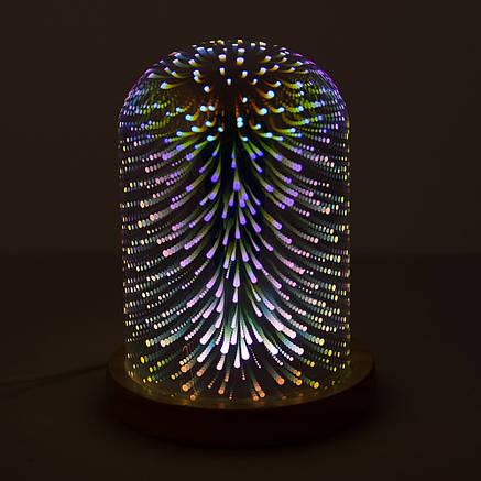 Светильник 3D акриловый Абстракция Серебристый, фото 2